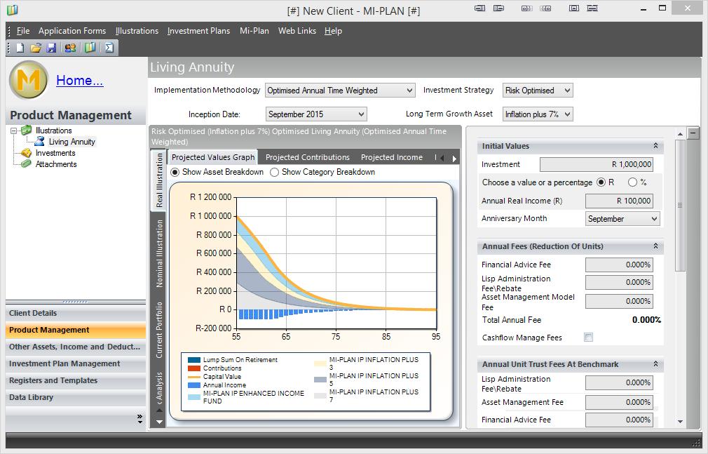Mi-Plan windows desktop application